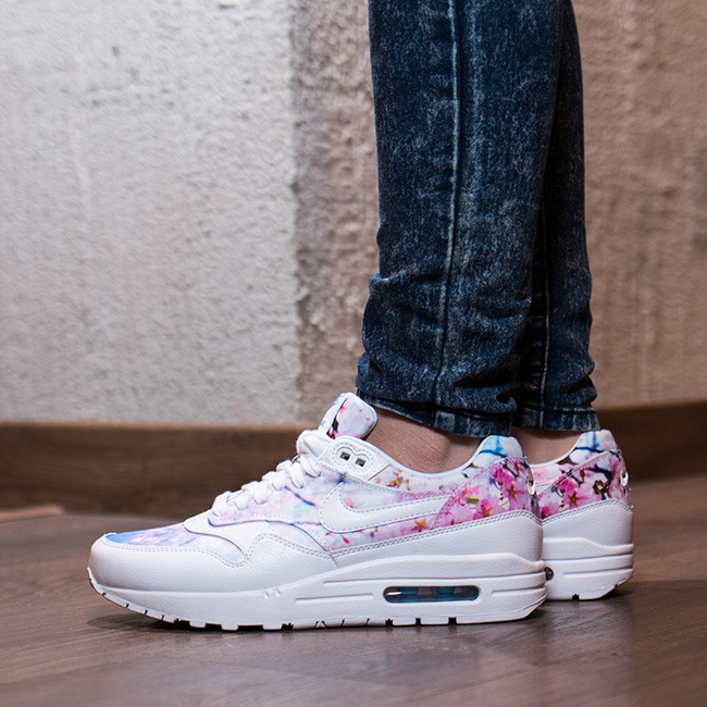 6646e9bb3d ... coupon code for womens shoes sneakers nike air max 1 print cherry  blossom pack 528898 102
