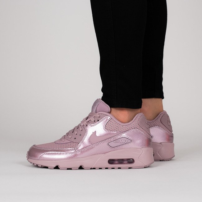 Nike Air Max 90 Premium Pink White Gray Women's Shoes
