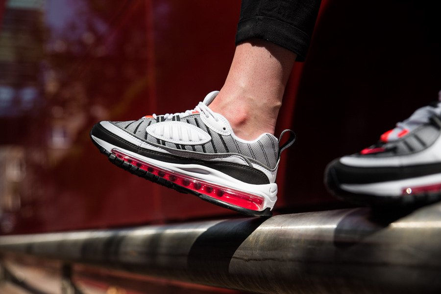 Nike Air Max 98 Solar Red Ah6799 104 Women S Shoes Sneakers