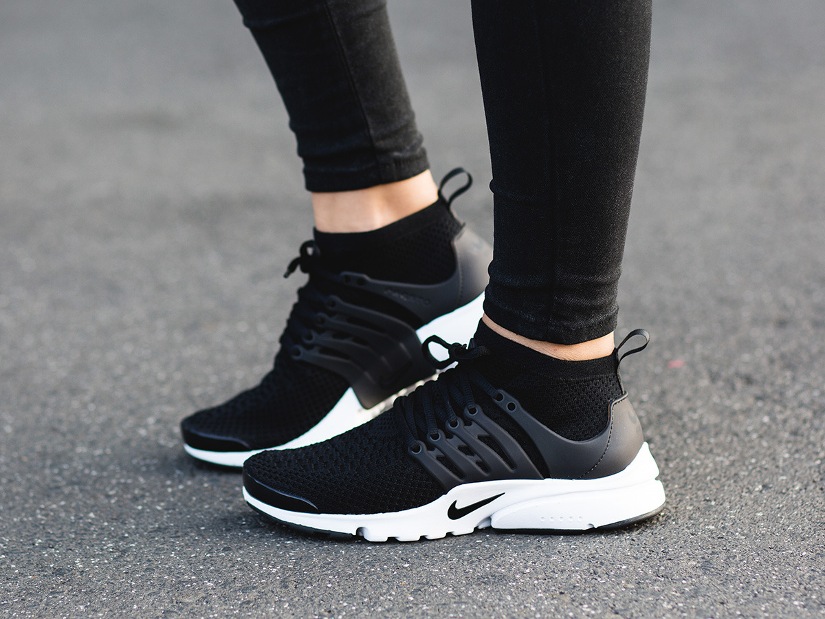 new style 49414 6d25a Women s Shoes sneakers Nike Air Presto Flyknit Ultra 835738 001 ... Mens  Womens Nike Air Presto Essential Bred Black Running ...