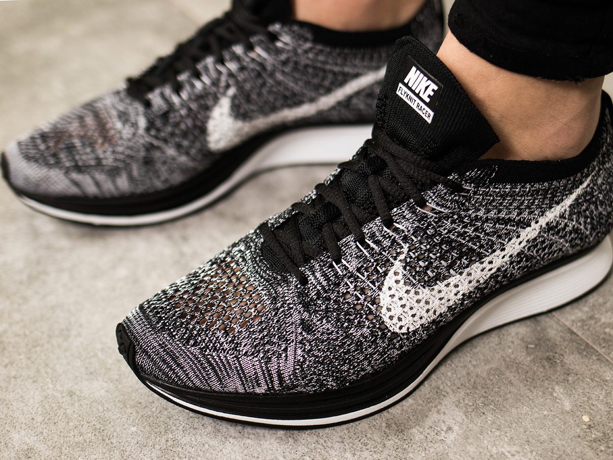 "Women's Shoes sneakers Nike Flyknit Racer ""Oreo"" 526628 ...