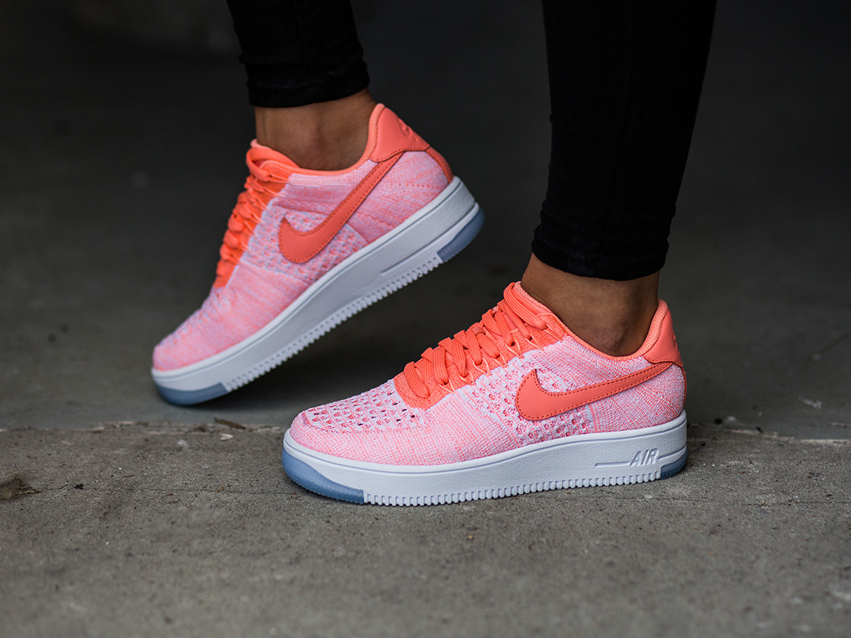 women 39 s shoes sneakers nike w air force 1 flyknit low. Black Bedroom Furniture Sets. Home Design Ideas