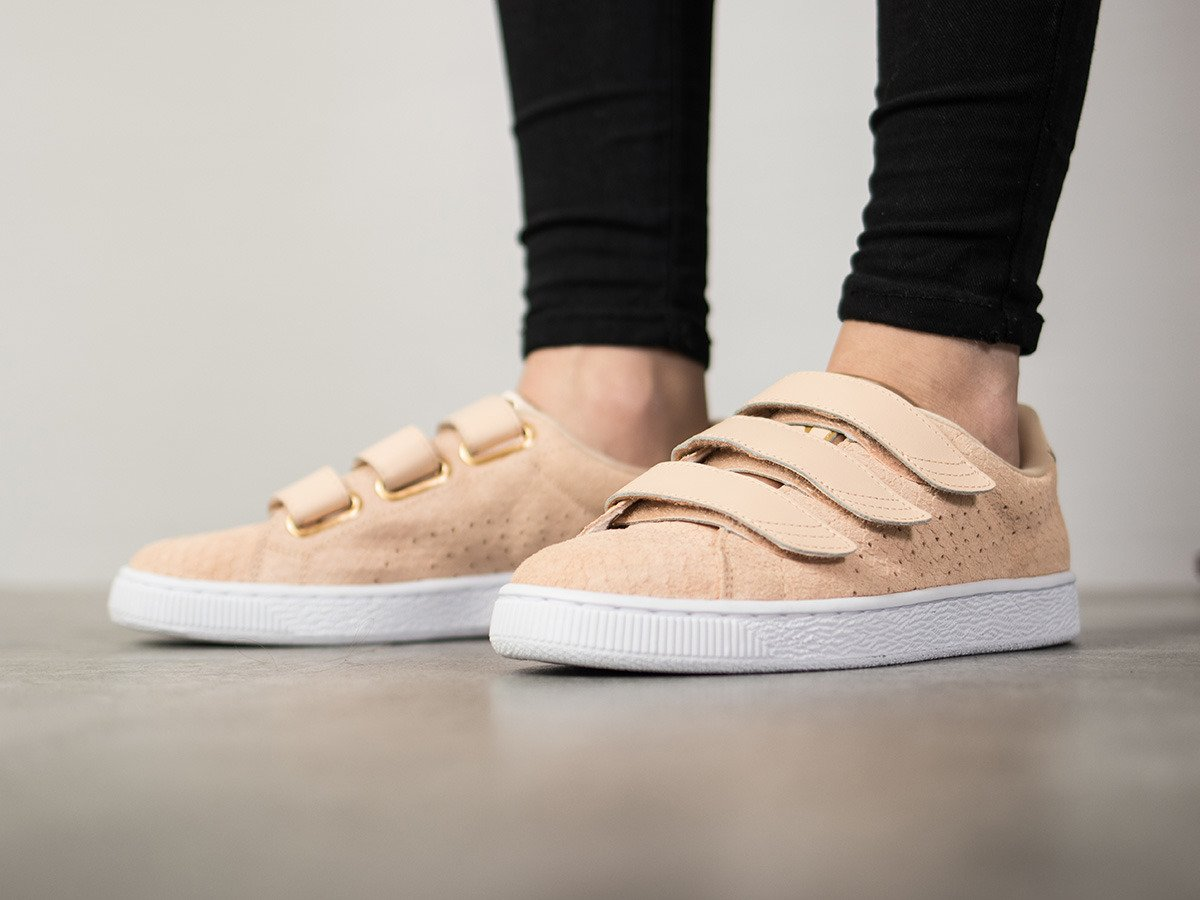 puma basket strap exotic skin sneakers