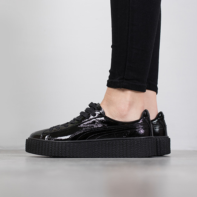 women 39 s shoes sneakers puma creeper wrinkled patent x. Black Bedroom Furniture Sets. Home Design Ideas