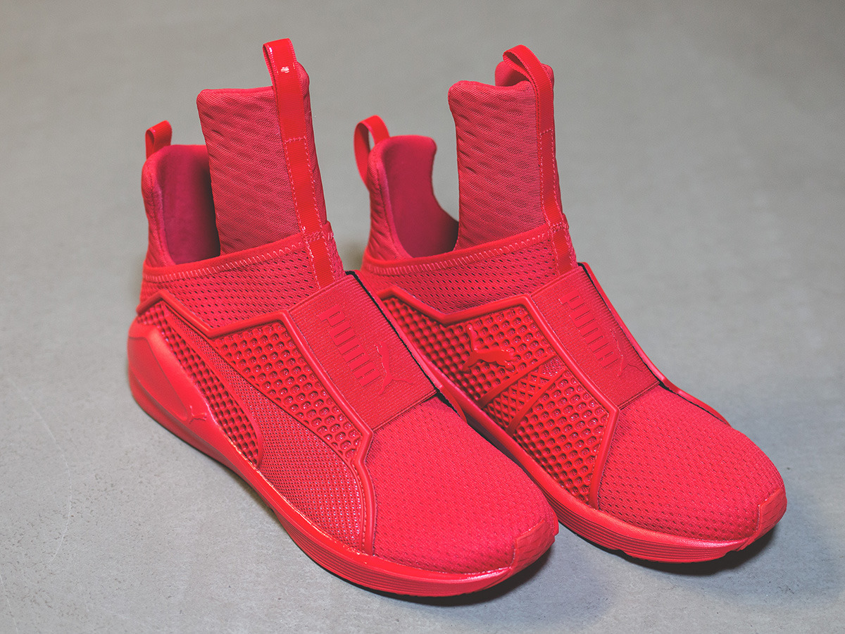women 39 s shoes sneakers puma fenty trainer x rihanna red. Black Bedroom Furniture Sets. Home Design Ideas