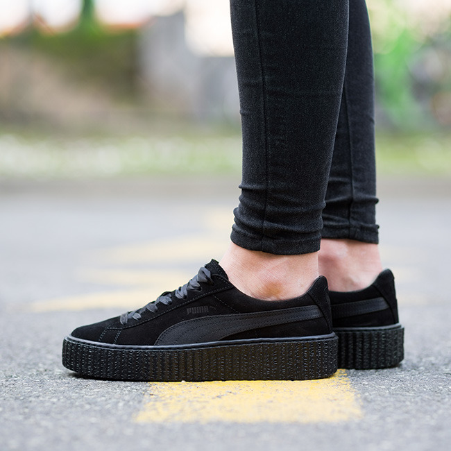 cc0e1ed32dcb ... good womens shoes sneakers puma suede creepers satin fenty rihanna  362268 01 1df0b e041c