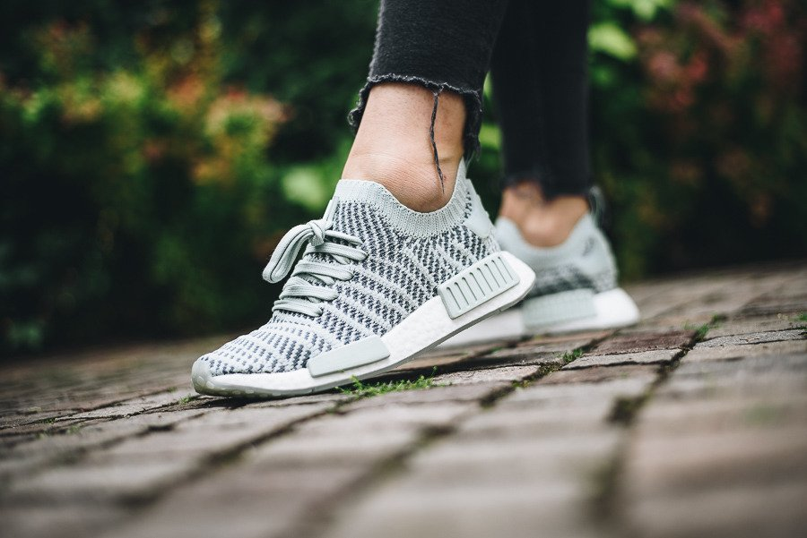 online store 34fb5 e2066 ... NMD R1 STLT Primeknit Shoes Ash Green  Womens Shoes sneakers adidas  Originals NmdR1 Stlt Pk W CQ2031 ...