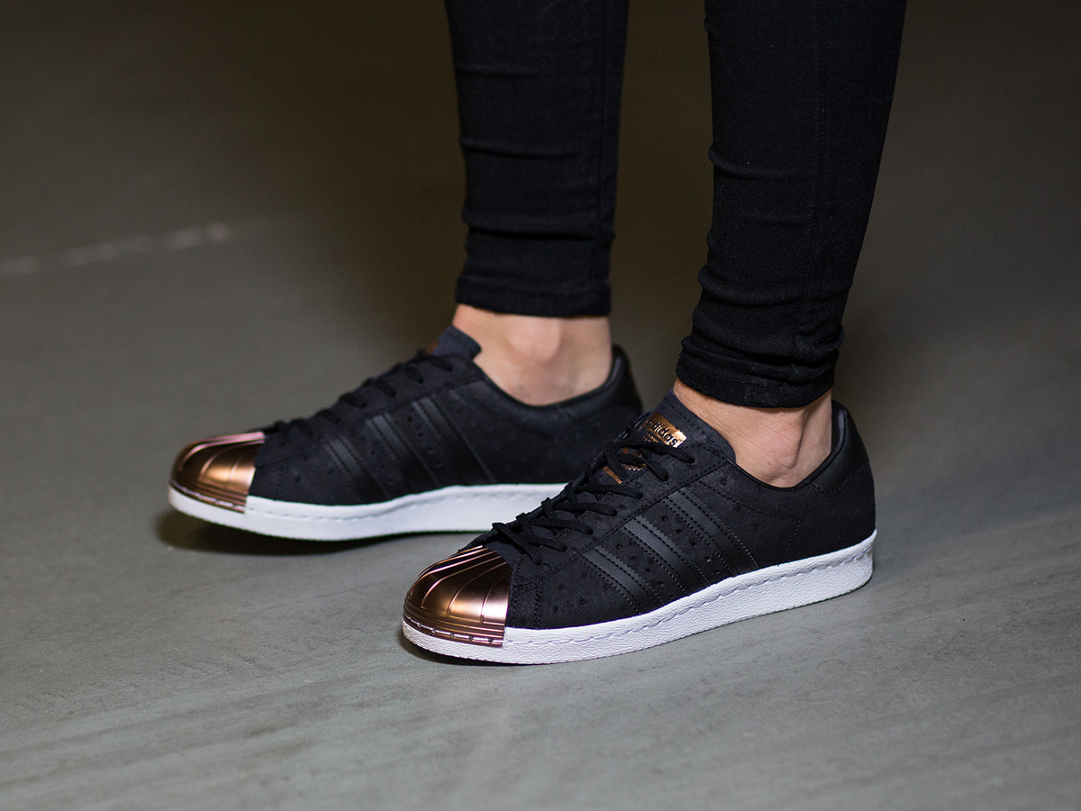 adidas superstar 80's metal toe trainers