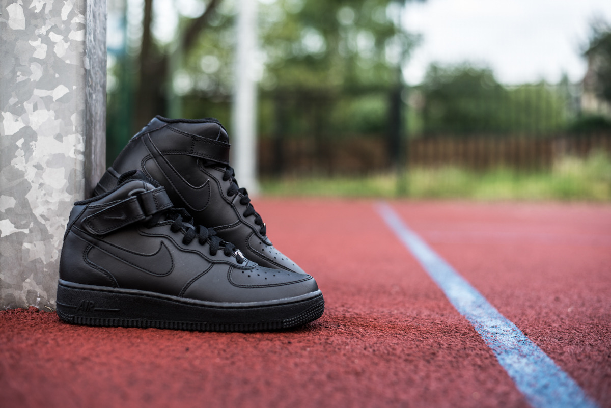 NIKE AIR FORCE 1 MID Nike Air Force 1 mid BLACK