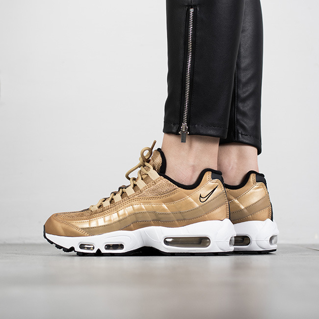 women 39 s shoes sneakers nike air max 95 metallic gold. Black Bedroom Furniture Sets. Home Design Ideas