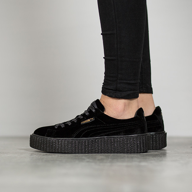 wholesale dealer 95c69 bb9f4 rihanna puma creepers all black