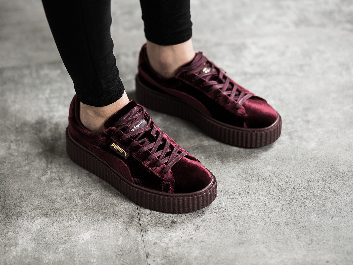 women 39 s shoes sneakers puma creeper velvet x rihanna royal purple 364466 02 best shoes. Black Bedroom Furniture Sets. Home Design Ideas
