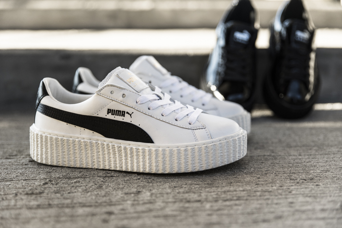 women 39 s shoes sneakers puma creeper x fenty by rihanna white black 364462 01 best shoes. Black Bedroom Furniture Sets. Home Design Ideas