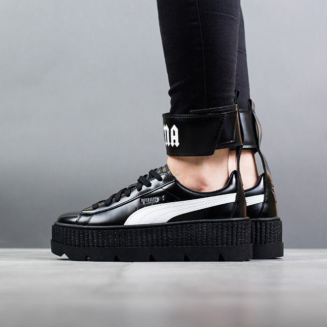 052b57156 Ankle Strap Leather Creeper Sneakers FENTY Puma by Rihanna WOMEN