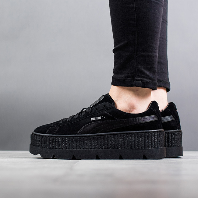women 39 s shoes sneakers puma x fenty rihanna cleated creeper suede black 366268 04 best shoes. Black Bedroom Furniture Sets. Home Design Ideas