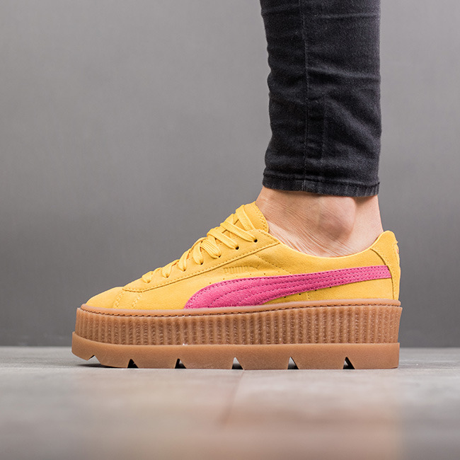 puma x fenty rihanna cleated creeper suede lemon carmise rose 366268 03 best shoes sneakerstudio. Black Bedroom Furniture Sets. Home Design Ideas