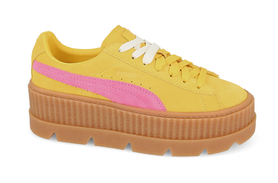 puma creepers yellow and pink