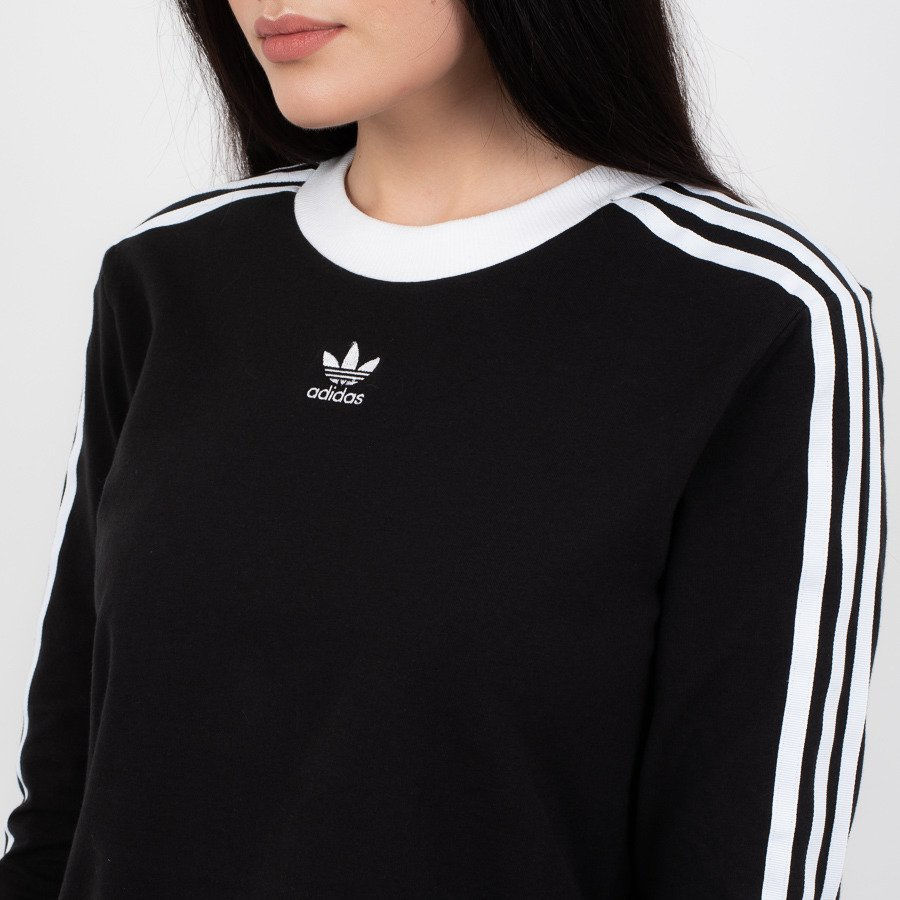 adidas Originals sweatshirt with 3 Stripe in black