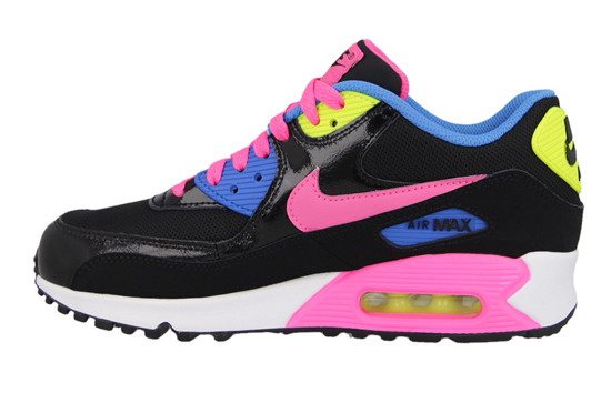 WOMEN'S SHOES SNEAKERS Nike Air Max 90 Mesh (GS) 724855 004