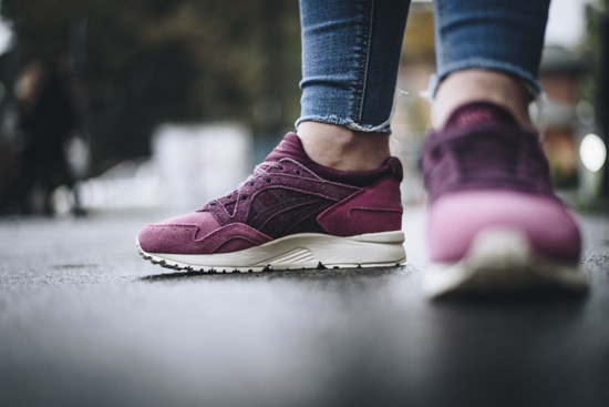 "Women's Shoes sneakers Asics Gel Lyte V ""Eggplant"" HL7E8 3333"
