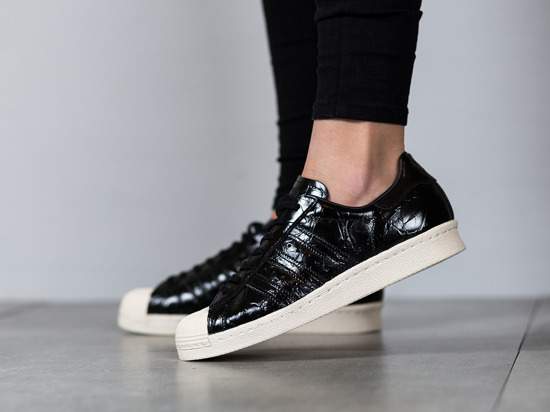 Women Classic adidas Superstar 80s W Shoes Black White