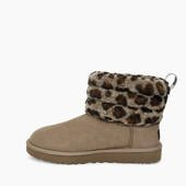 UGG W Fluff Mini Quilted Leopard 1105358 AMP