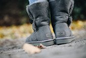 Women's shoes UGG Bailey Button II 1016226 GREY
