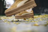 "Women's shoes sneakers Puma x Fenty Rihanna Cleated Creeper Suede ""Golden Brown"" 366268 02"